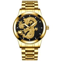 FNGEEN Luxury gentleman's Watch Quartz Watch for Men Stainless Steel Wristwatches black one size