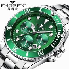 FNGEEN Luxury  Waterproof Quartz Luminous watch Men's WristWatches white-green one size