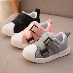 Baby Boy new mesh fabric breathable sports shoes girl kids casual shoes sneakers black 26