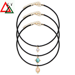Fashion Women's Necklace Accessories Plated Metal Chain Circle Lariat Pendant Necklaces Jewellery white one size