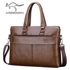 JUSENDAISHU Brand Commuter Bag men handbags classic men's travel bags messenger bag Briefcase light brown one size