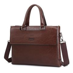 JEEP Brand Commuter Bag men handbags for men classic travel bags messenger bag Briefcase brown one size