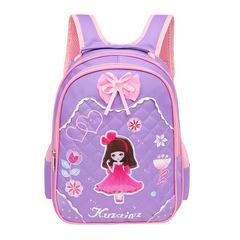 Kids Bags Fashion Children Backpacks for Student primary school boys girls satchel schoolbag purple