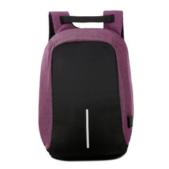 Bags Business Laptop Backpack,Waterproof USB Charging Port  interface Leisure Travel handbags men Violet one size