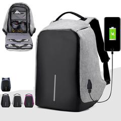 Bags Business Laptop Backpack,Waterproof USB Charging Port  interface Leisure Travel handbags men Violet one size