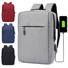Bags Business Laptop Backpack, USB Charging Port  interface Leisure Travel handbags ladies men black 15.5