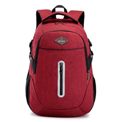 17inch Bags Business Laptop Backpack,Travel handbags men Commuter Bag Briefcase reflective strip red one size
