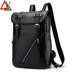 PU Leather Backpacks Men's Fashion Travel Bags schoolbag Commuter Bag Briefcase handbags black one size