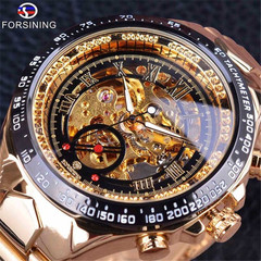 FORSINING Royal Men Mechanical Watch  Stainless steel strap Top Brand Luxury Skeleton watches a one size