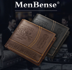 Valentine's Gift High Quality Vintage Men Wallet Leather Luxury Short Male Clutch Wallets purse brown one size