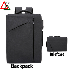 Anti-theft lock Backpack Men's Bags Briefcase Commuter Bag All-purpose Business Leisure Portable Bag black one size