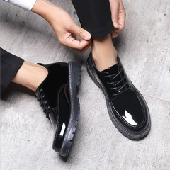 Men Shoes High Quality Business Derby Shoes Men Wedding Shoes Men Dress leather shoes black 39 pu leather