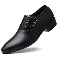 Men Shoes High Quality Business Derby Shoes Men Wedding Shoes Mens Dress leather shoes black 39 pu leather