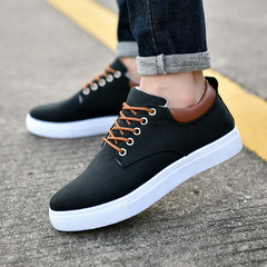 Fashion sneakers men shoes casual  sports shoes Running Breathable shoes Board Shoes Canvas shoe black 39