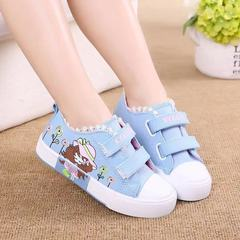 Baby girls rubber sole shoe girl kids shoes casual Shoes Canvas shoes fashion sneakers sports shoe blue 23