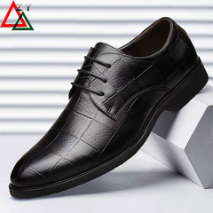 Fashion Men Shoes High Quality Business Derby Shoes Men Wedding Shoes Men Dress leather shoes black 39 pu leather