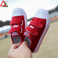 Boys girls rubber sole shoe girl kids shoes casual shoes Canvas Shoes fashion sneakers sports shoe red 27
