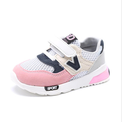 Fashion Athletic Shoes boys shoes fabric breathable sports shoes girls kids shoes casual sneakers pink 21