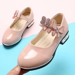Fashion Children kids shoes Girls Casual Teenagers Leather shoes Princess Dancing Shoes dress shoes pink 26
