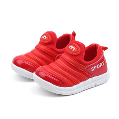 Fashion fabric comfortable soft Shoes Girls Boys kids shoes casual sneakers red 21