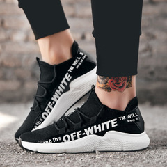 Fashion sneakers men shoes casual sports canvas shoes Running Breathable Shoes Comfortable Shoes men black 39