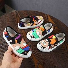 Fashion sneakers Graffiti comfortable soft Canvas Shoes Girls Boys kids shoes casual shoes yellow 25