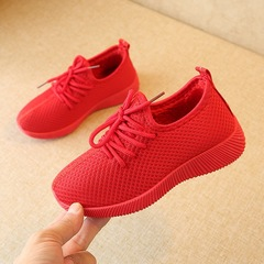 Fashion fabric comfortable soft Shoes Girls Boys kids shoes casual sneakers red 26