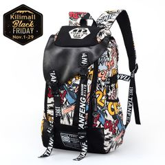 Fashion Graffiti bag Canvas bag Backpack Handbags for men women Travelling bag Schoolbags yellow 18inch