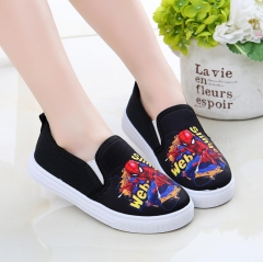 Spider-Man Boys Girls Loafers canvas shoe Casual shoes anti-skidding Fashion sneakers shoes black 26