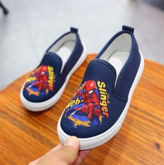 Last 1 bargains Spider-Man Boysshoes canvas Casual shoes anti-skidding  kids sneakers blue 29