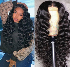Wigs Women Fashion temperament wig female natural black small curl Length is optional fluffy black 14inch