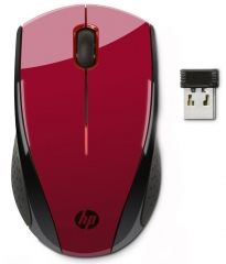HP-wireless optical mouse-red
