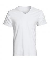 Generic V Neck Plain White T-Shirt white m