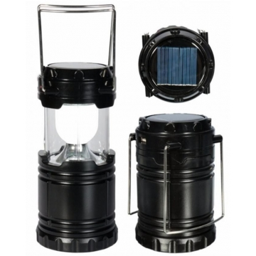Generic Camping lantern with Solar Charging and Mobile Charger - Black great
