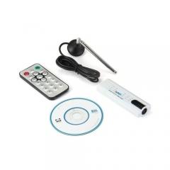 USB Digital TV Tuner HDTV Stick Receiver - White white
