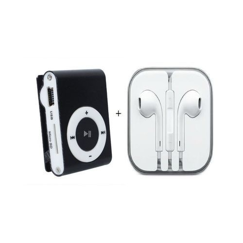MP3 Player With free iPhone High Quality Ear Pods - Black BLACK SMALL