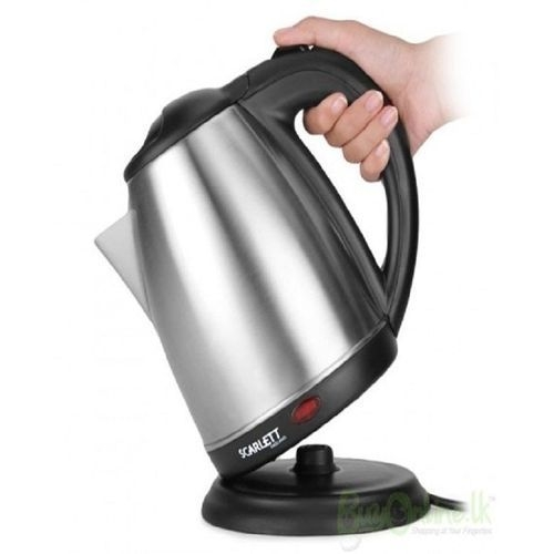 Cordless Electric Kettle - Silver. silver