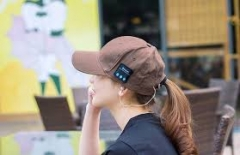 Bluetooth Music Hat Baseball Leisure Cap Outdoor Equipment brown