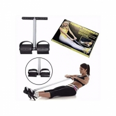 Universal Classic Fitness Set (Tummy Trimmer, Hand Grip & Skipping Rope) - Black black small