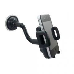 Universal Adjustable Plastic Car Phone Holder - Black black one size