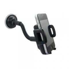 Universal Adjustable Plastic Car Phone Holder - Black black one size