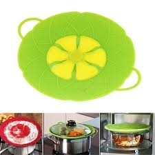 Bloom Multi-Purpose Lid Silicone Cover Spill Stopper For Pan Cooking Tools green one size