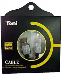 Tomi IPhone 5/6 USB charger cable - Premium Quality gold/white 1Metre