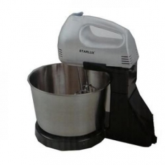 Hand Mixer with Bowl silver and black