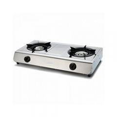 2 Burner Gas Cooker- Stainless Steel- Silver silver