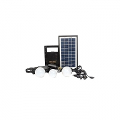 Solar Lighting System With FM Radio - Black black