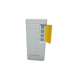 20000mAh powerbank With LED light - White And Yellow white and yellow 20000