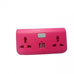 USB Way Socket Extension Cable - Pink pink
