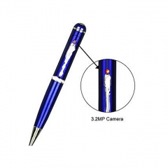 4GB Capacity Spy Pen Video Recorder Blue And Silver - (Without Box packaging)
