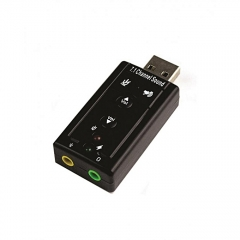 USB Sound Card 7.1 black good music